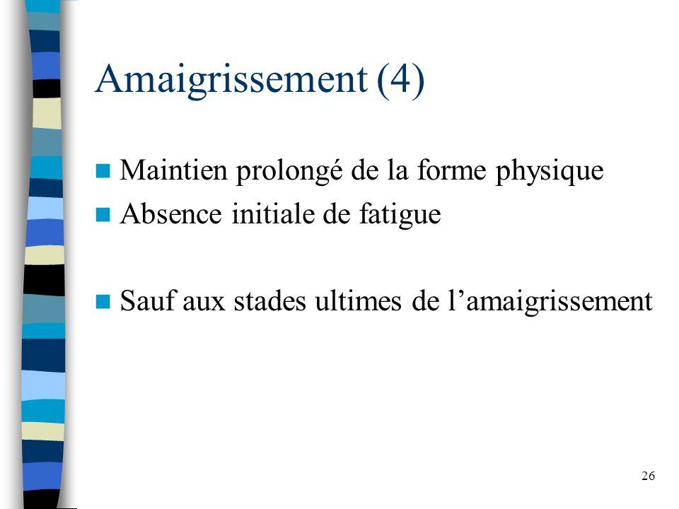 Amaigrissement (4) Maintien prolongé de la forme physique