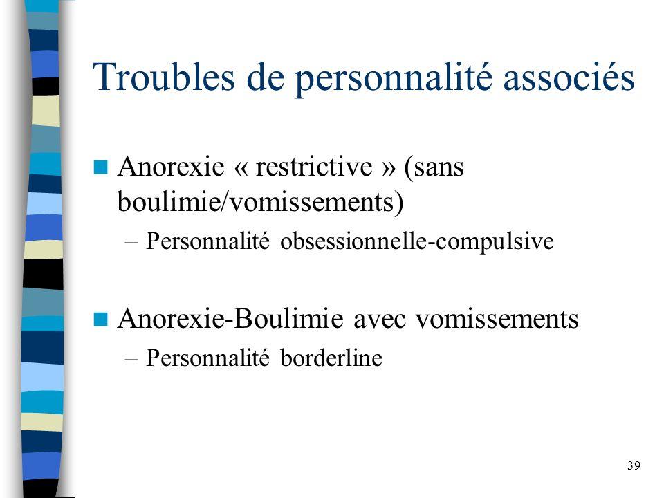 Troubles de personnalité associés