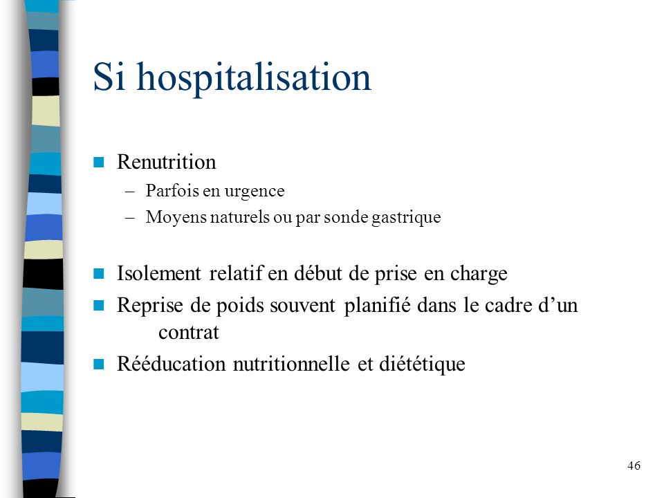 Si hospitalisation Renutrition