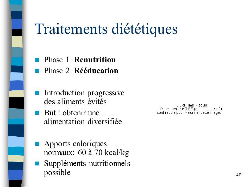 Traitements diététiques