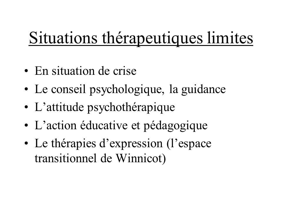 Situations thérapeutiques limites