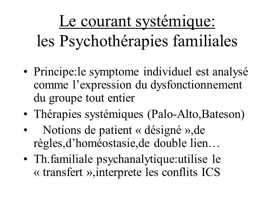 Le courant systémique: les Psychothérapies familiales