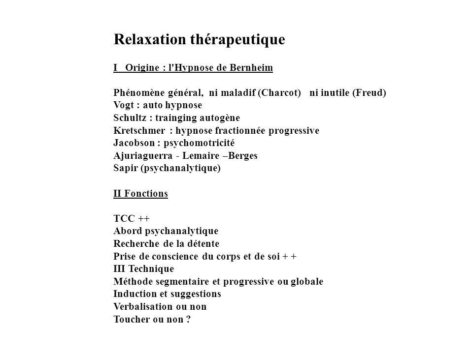 Relaxation thérapeutique