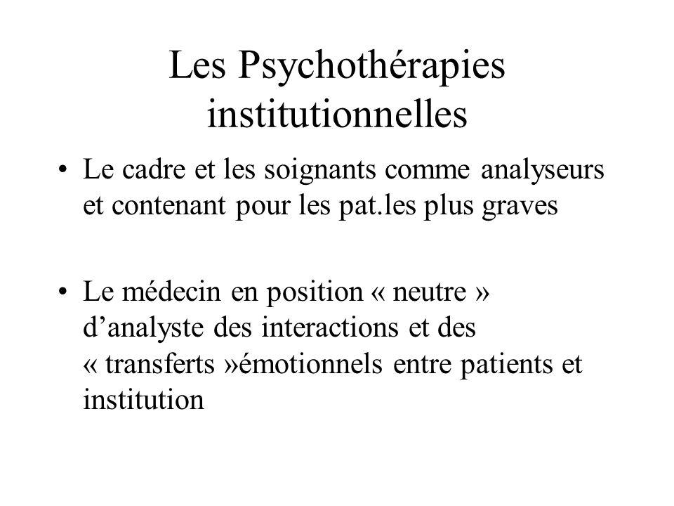 Les Psychothérapies institutionnelles