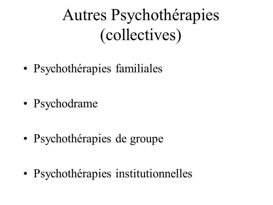 Autres Psychothérapies (collectives)