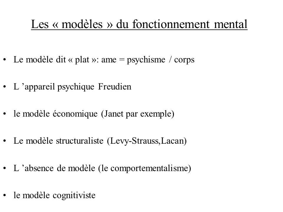 Les « modèles » du fonctionnement mental