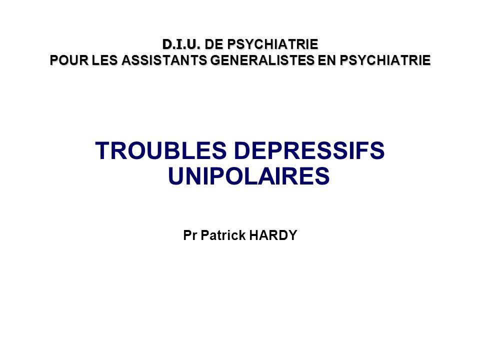D.I.U. DE PSYCHIATRIE POUR LES ASSISTANTS GENERALISTES EN PSYCHIATRIE