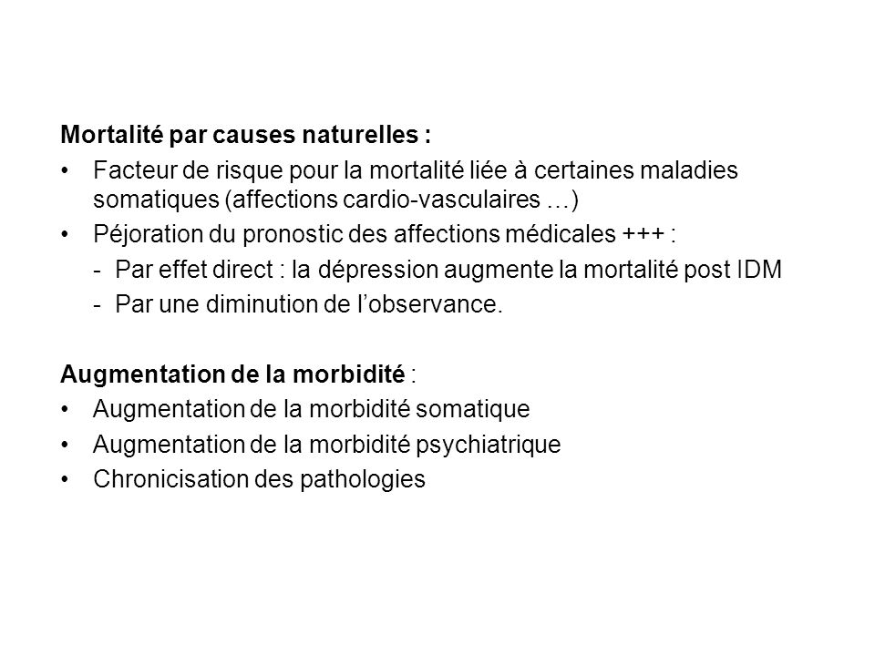 Mortalité par causes naturelles :