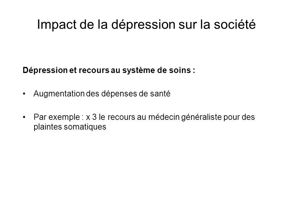 Impact de la dépression sur la société