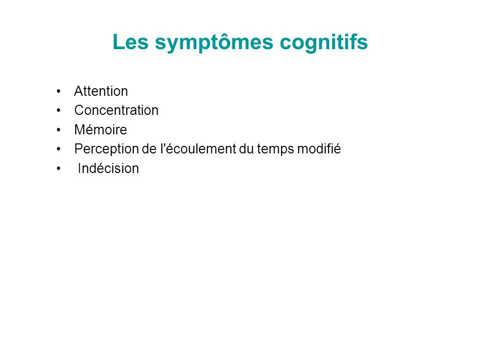 Les symptômes cognitifs