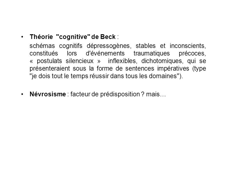 Théorie cognitive de Beck :