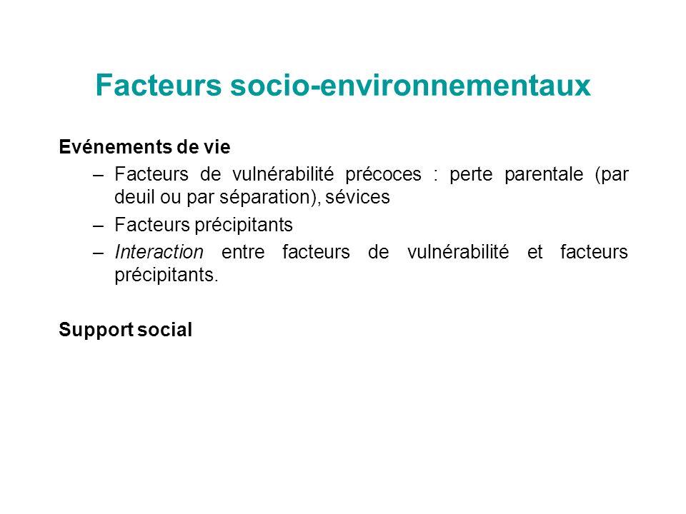 Facteurs socio-environnementaux