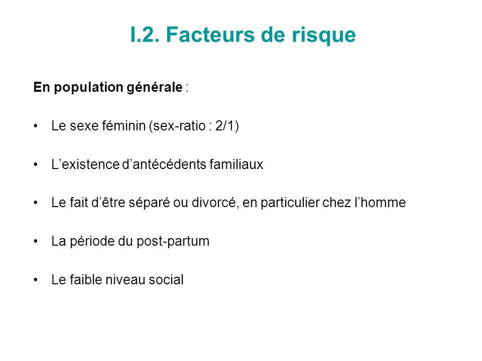 I.2. Facteurs de risque En population générale :