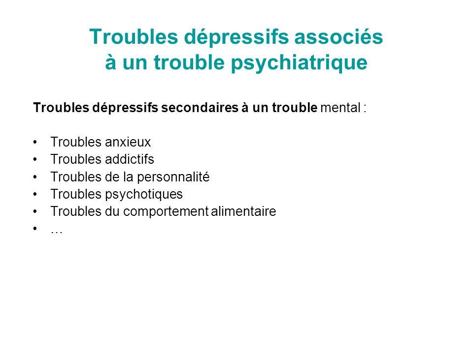 Troubles dépressifs associés à un trouble psychiatrique