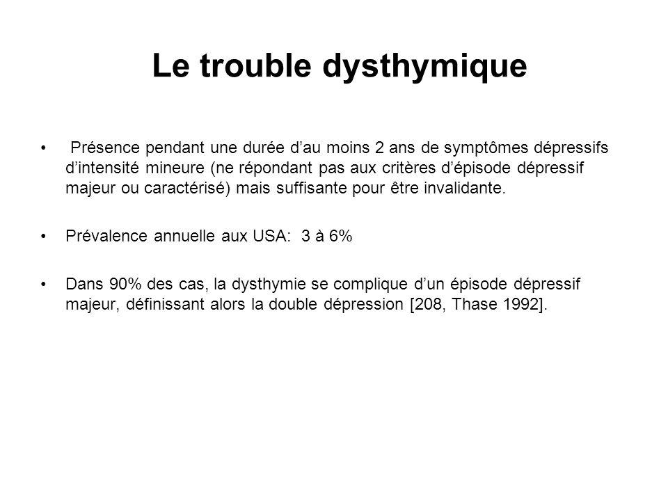 Le trouble dysthymique