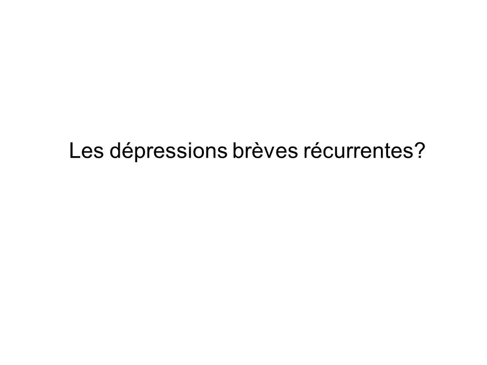 Les dépressions brèves récurrentes