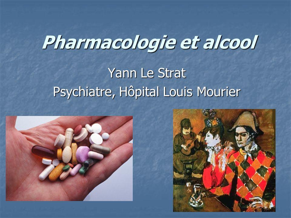 Pharmacologie et alcool