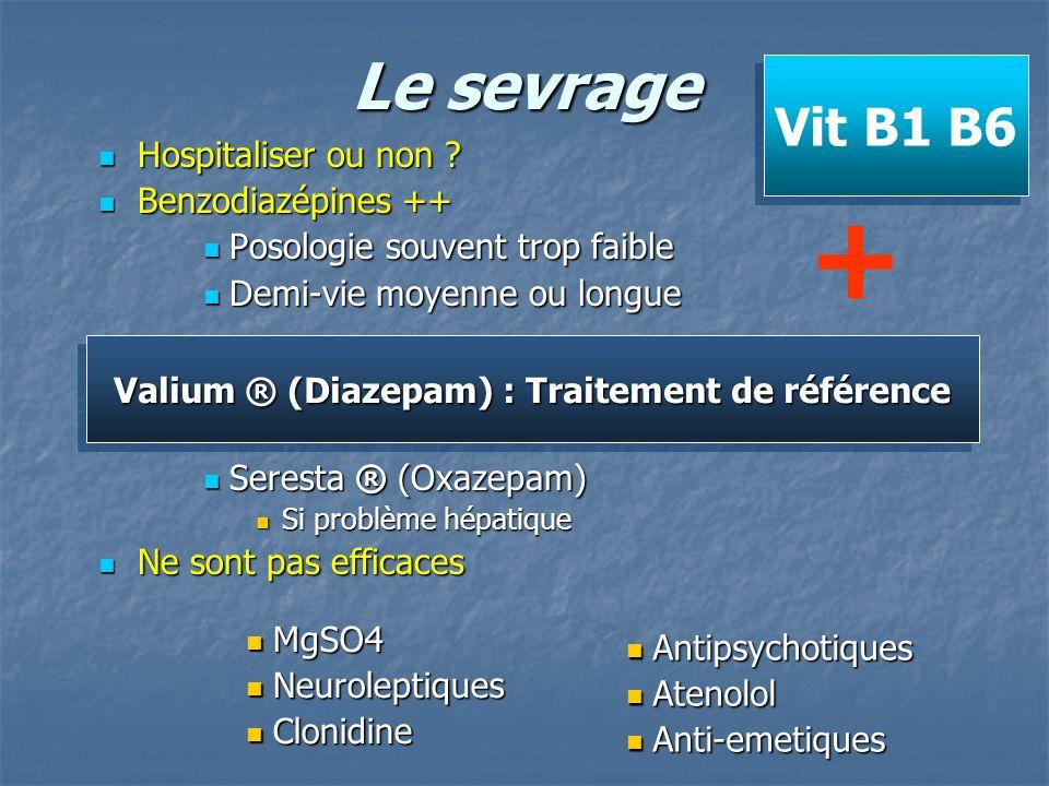 Valium ® (Diazepam) : Traitement de référence