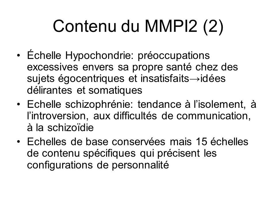 Contenu du MMPI2 (2)