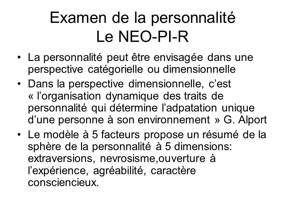 Examen de la personnalité Le NEO-PI-R