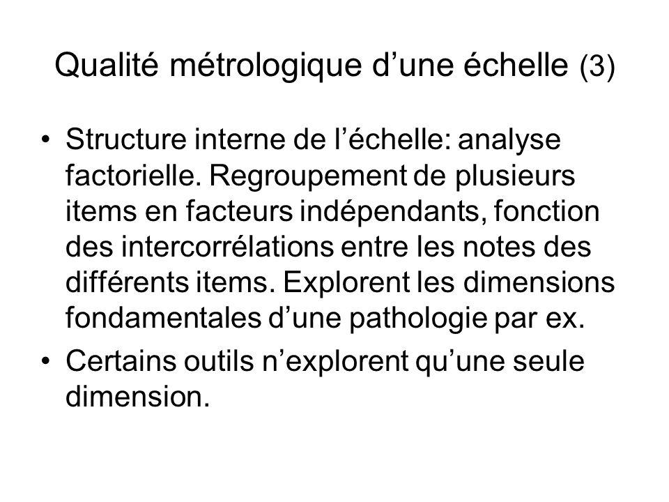 Qualité métrologique d'une échelle (3)