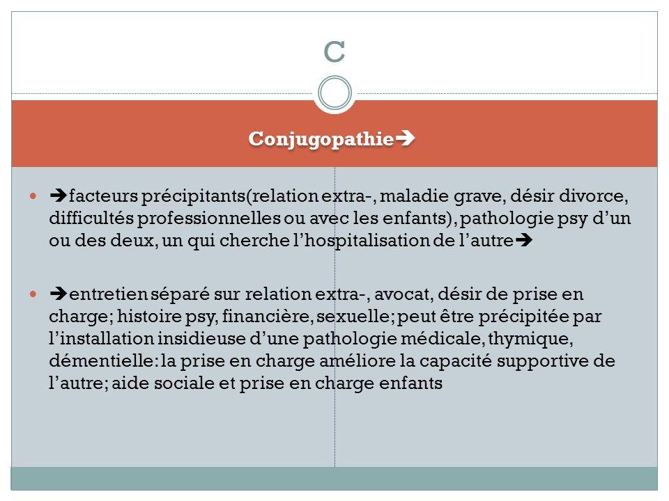 C Conjugopathie
