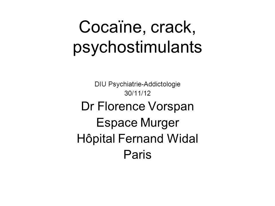 Cocaïne, crack, psychostimulants
