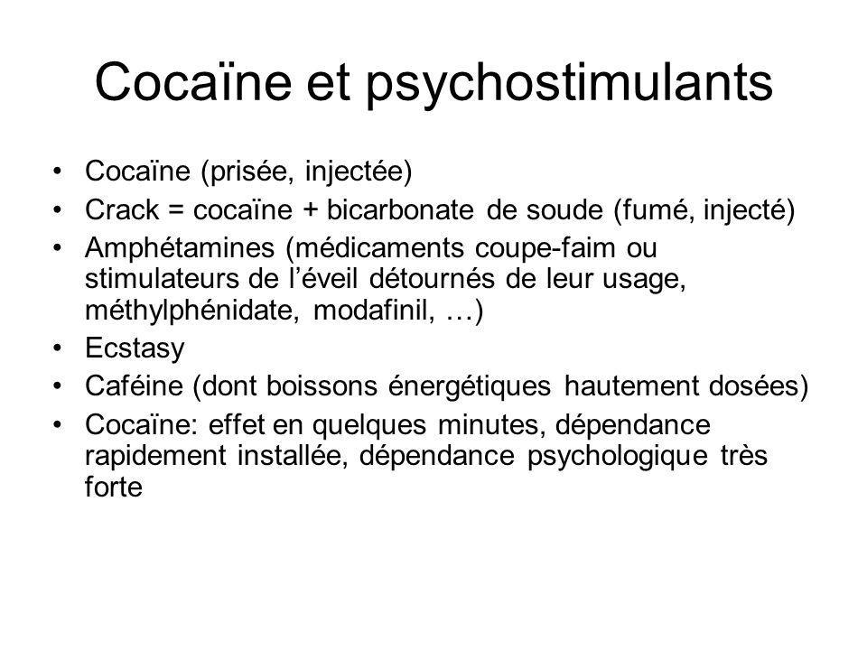 Cocaïne et psychostimulants