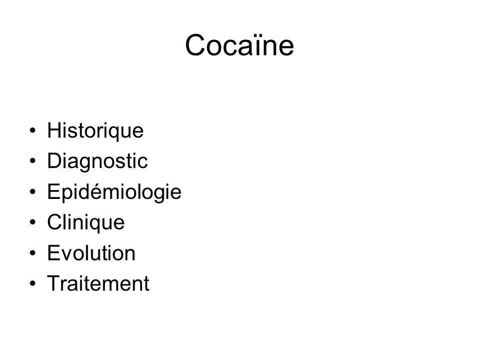 Cocaïne Historique Diagnostic Epidémiologie Clinique Evolution