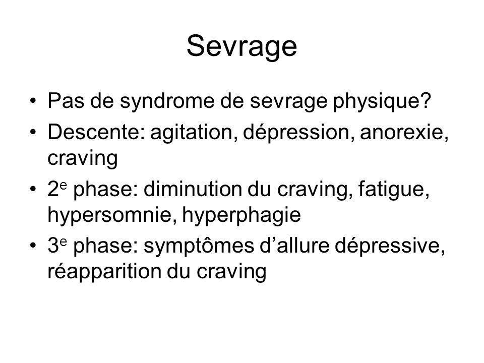 Sevrage Pas de syndrome de sevrage physique