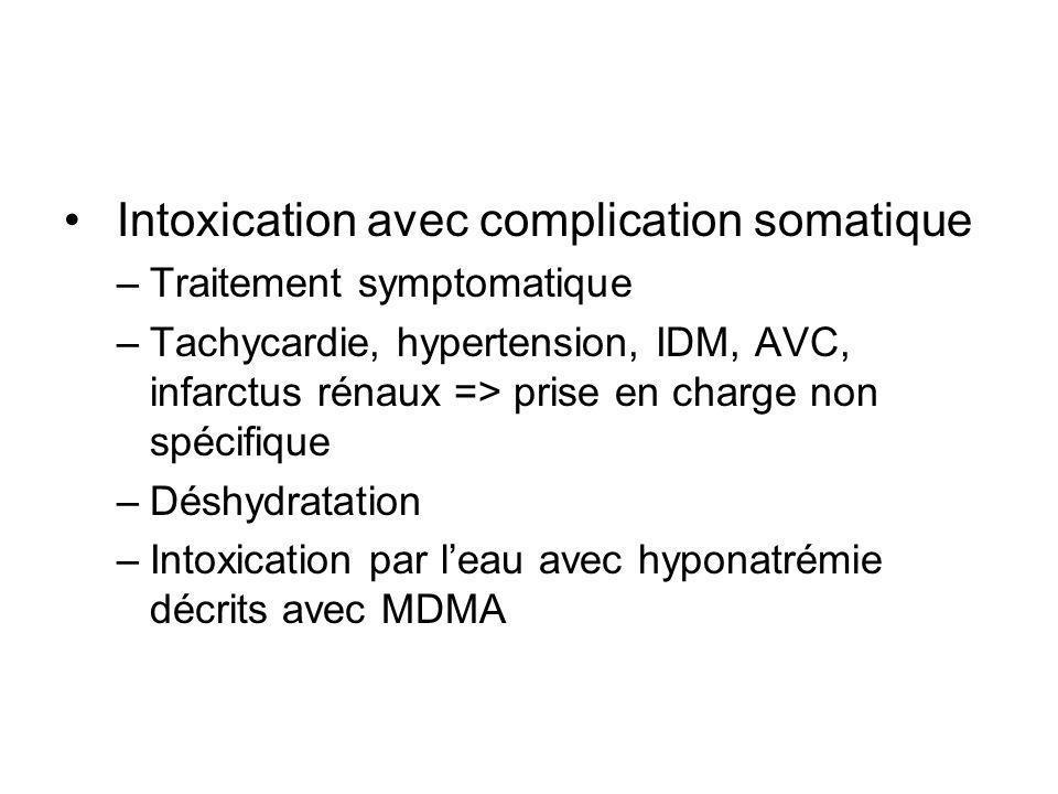 Intoxication avec complication somatique