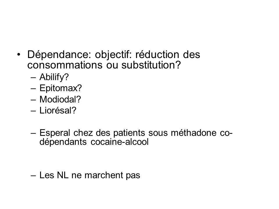 Dépendance: objectif: réduction des consommations ou substitution