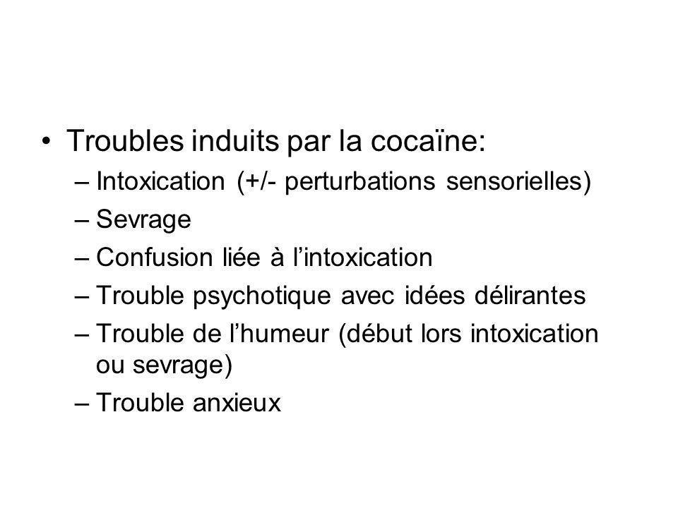 Troubles induits par la cocaïne: