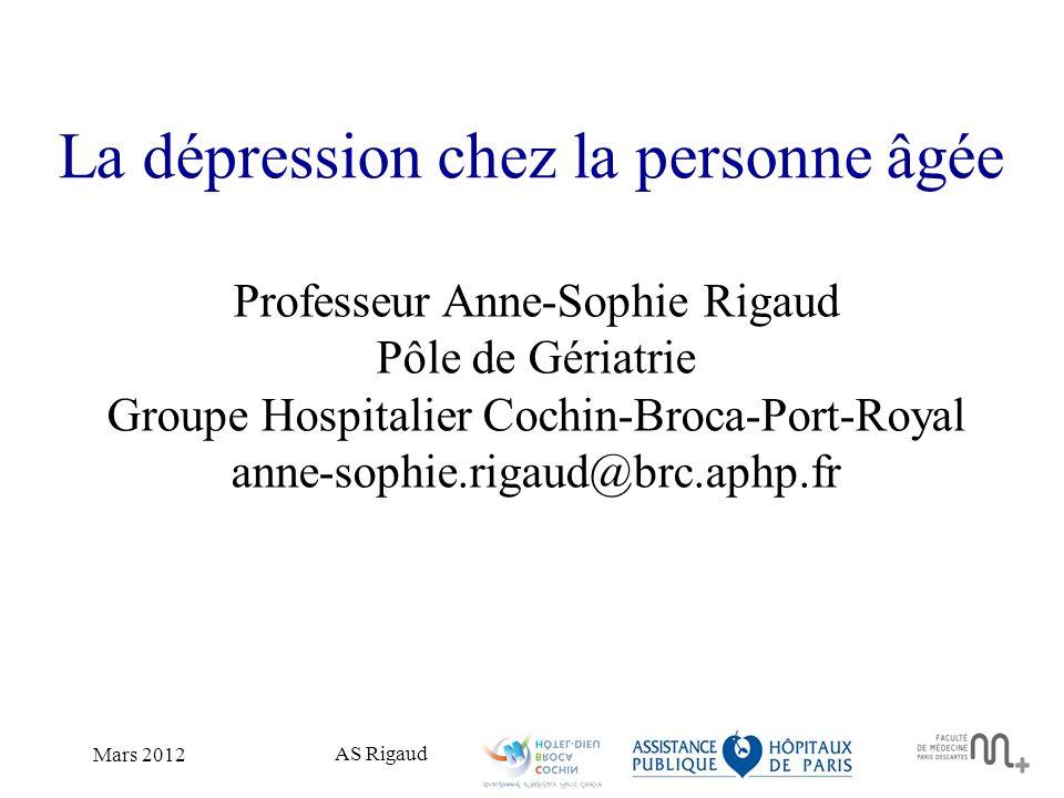 La dépression chez la personne âgée