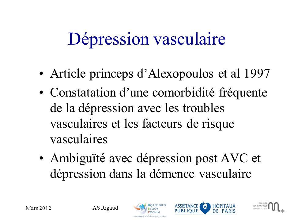 Dépression vasculaire