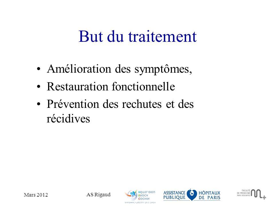 But du traitement Amélioration des symptômes,