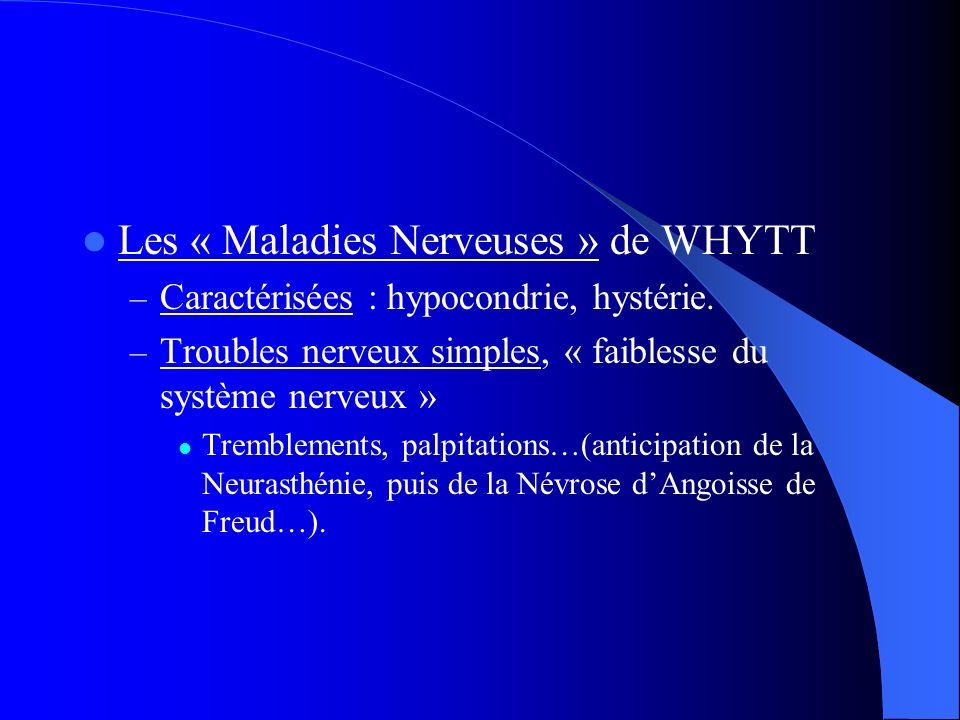 Les « Maladies Nerveuses » de WHYTT