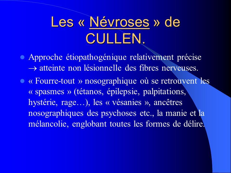 Les « Névroses » de CULLEN.