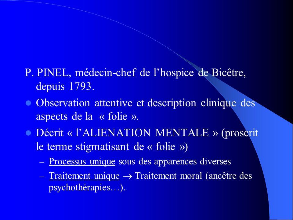 P. PINEL, médecin-chef de l'hospice de Bicêtre, depuis 1793.