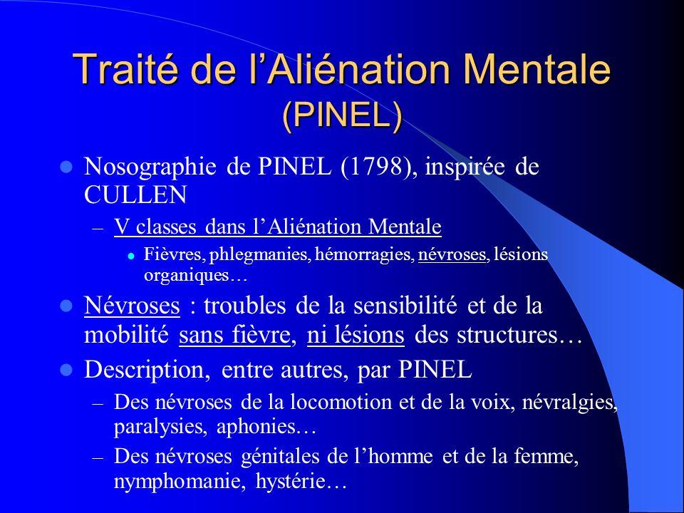 Traité de l'Aliénation Mentale (PINEL)
