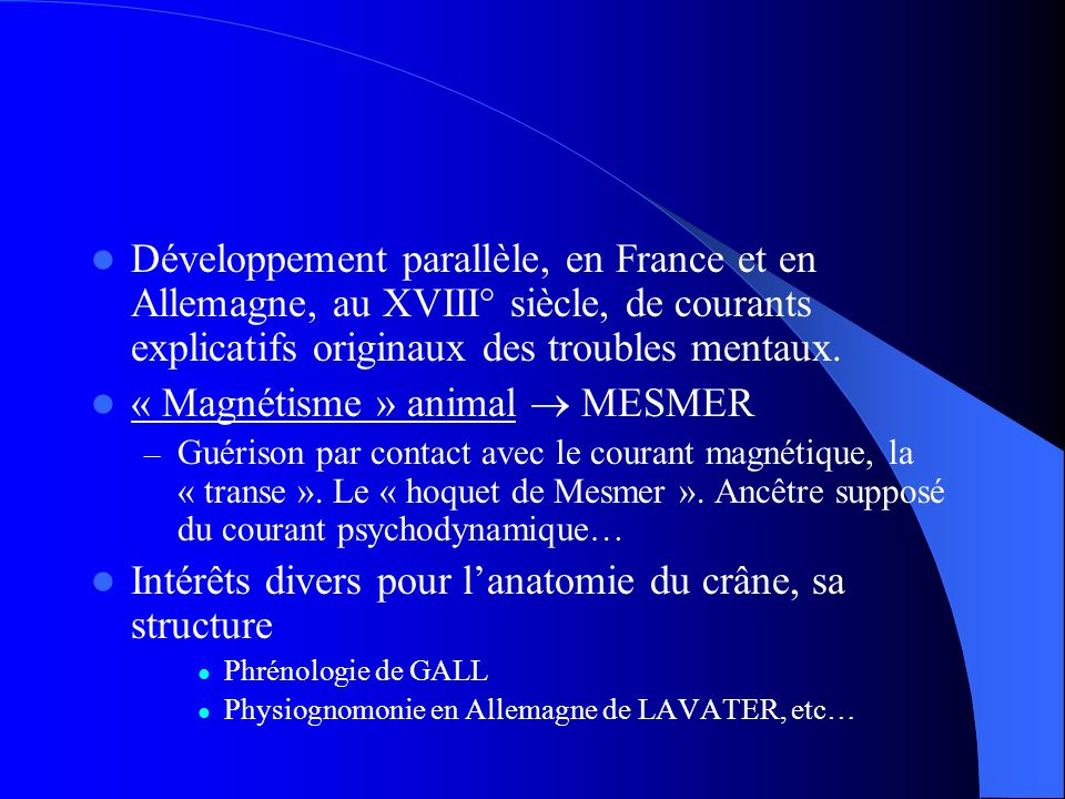 « Magnétisme » animal  MESMER
