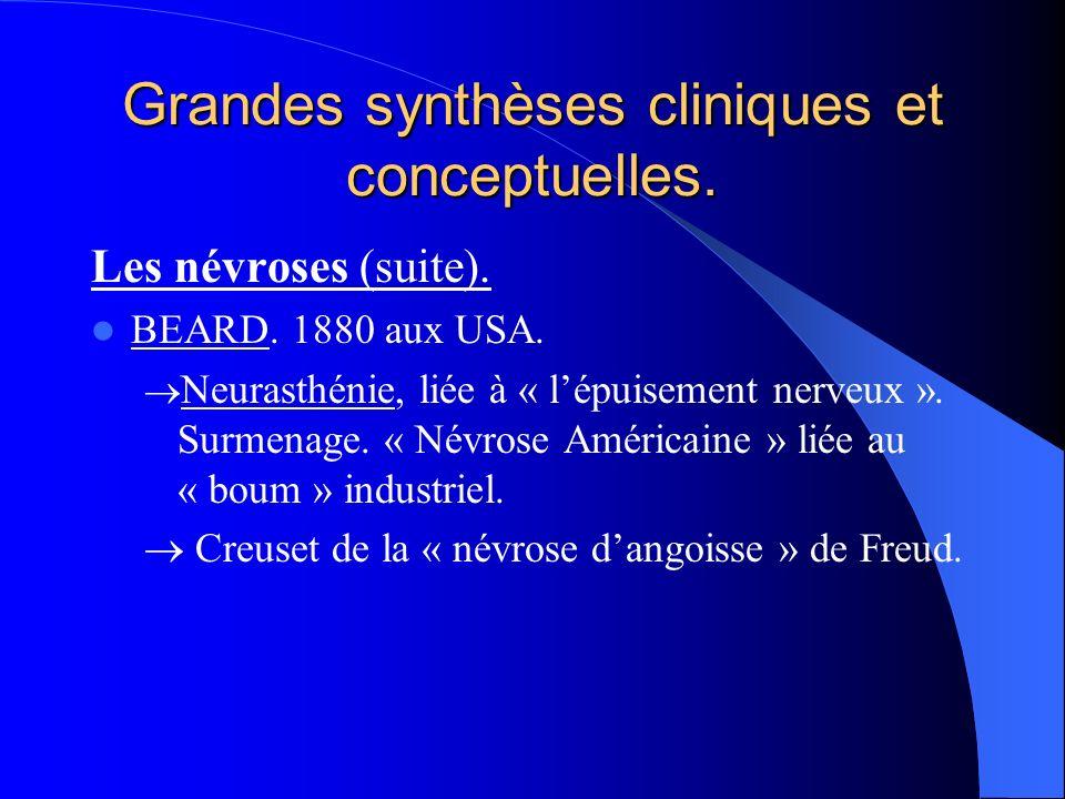 Grandes synthèses cliniques et conceptuelles.