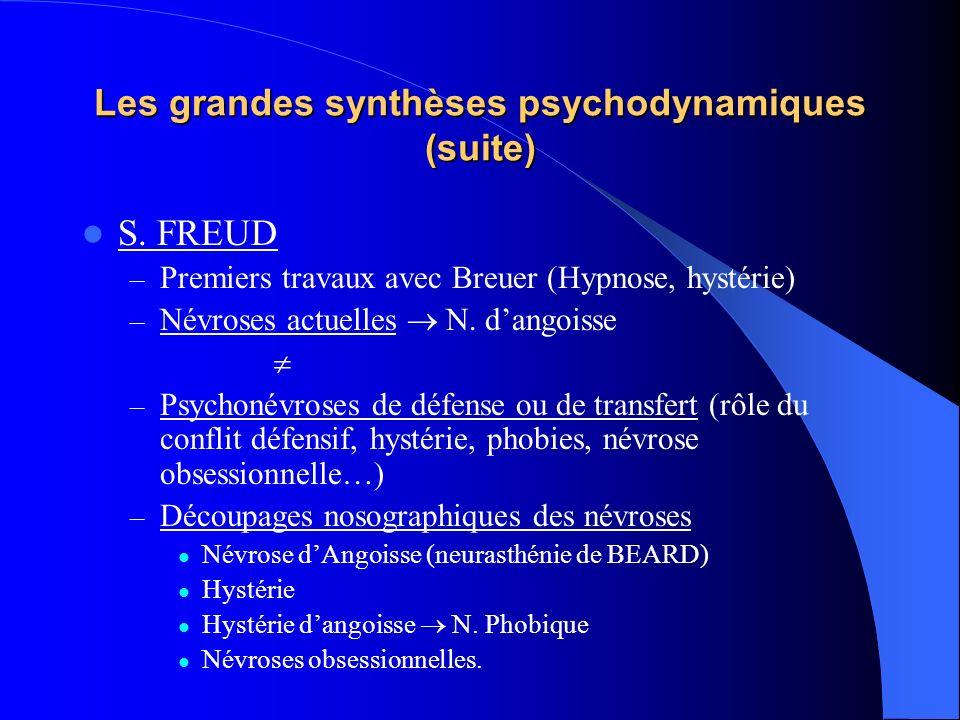 Les grandes synthèses psychodynamiques (suite)