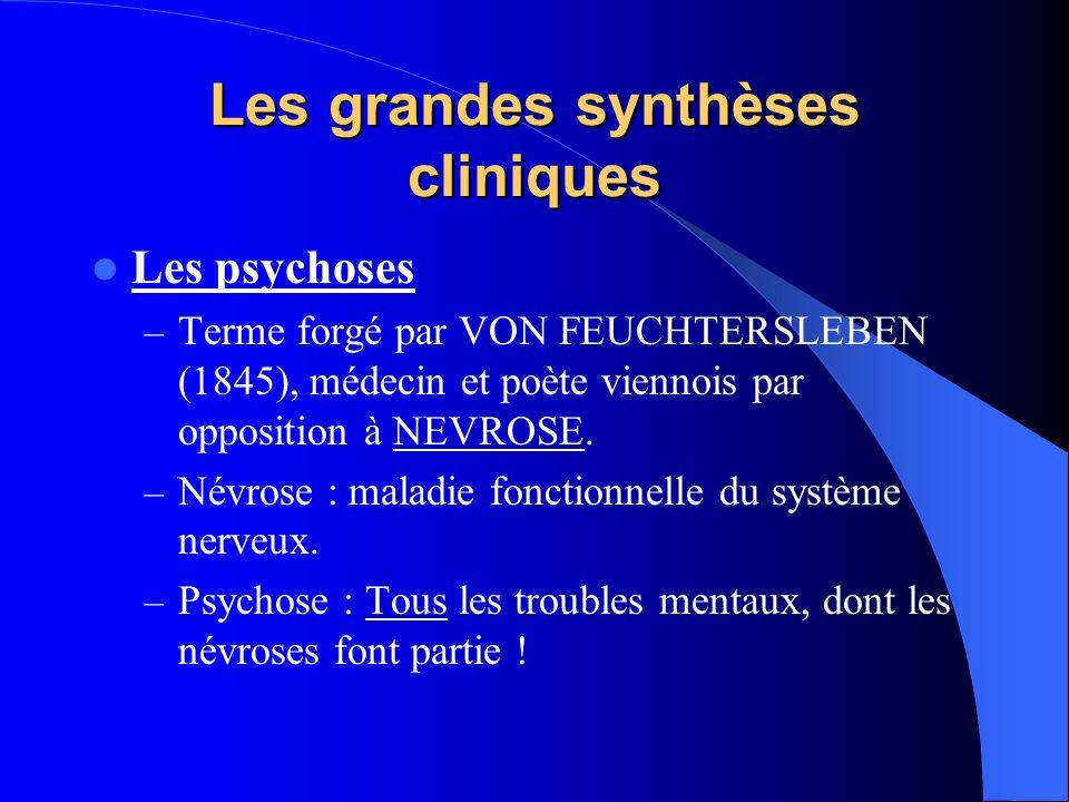 Les grandes synthèses cliniques
