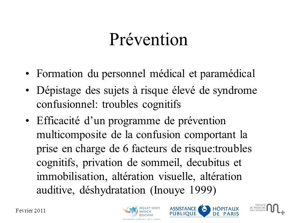 Prévention Formation du personnel médical et paramédical