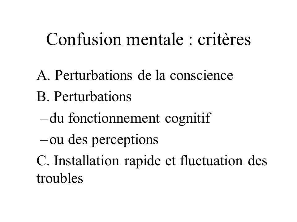 Confusion mentale : critères