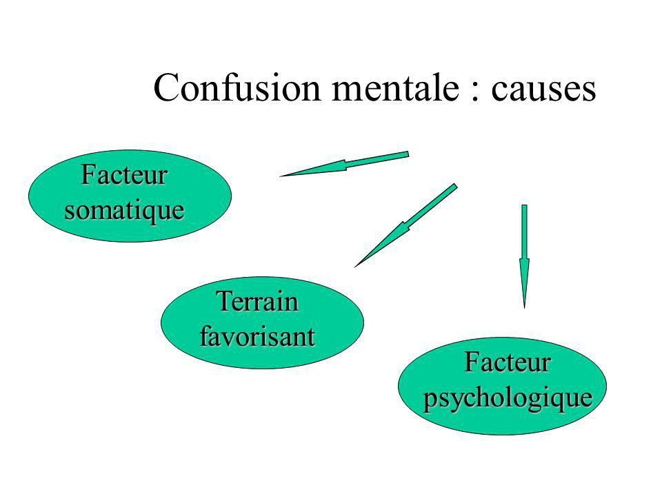 Confusion mentale : causes