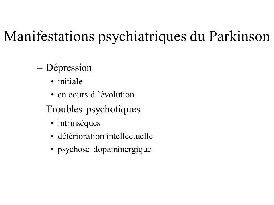 Manifestations psychiatriques du Parkinson