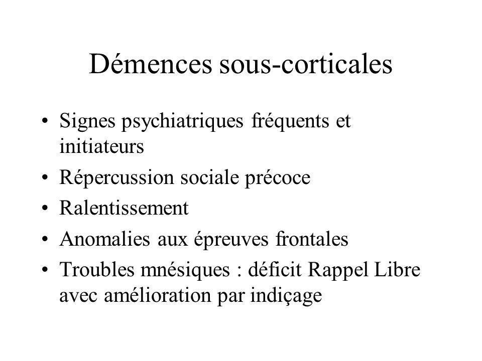 Démences sous-corticales