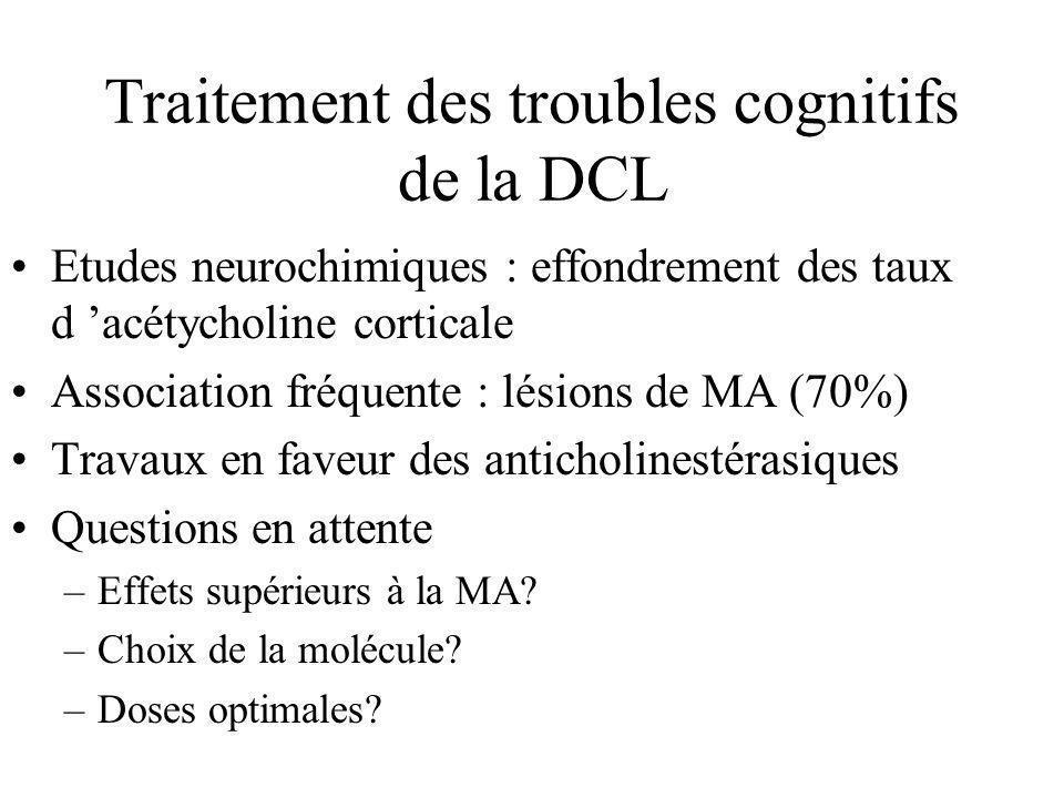 Traitement des troubles cognitifs de la DCL